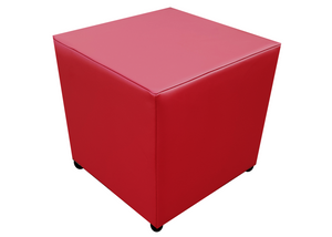 Cube Seating in Luxury Port Faux Leather - Footstools Direct