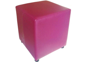 Cube Seating in Luxury Blossom Pink Faux Leather - Footstools Direct