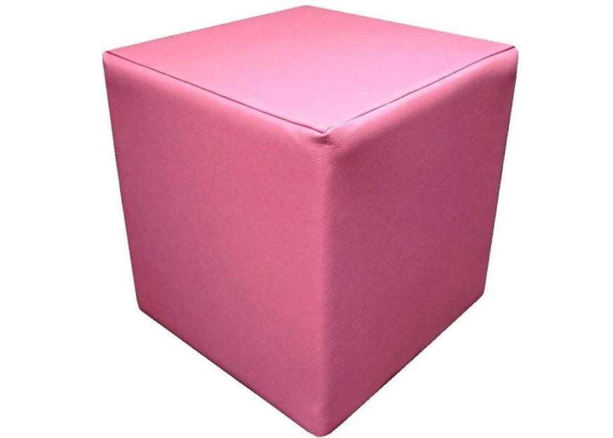 Cube Seating in Luxury Pink Leather - Footstools Direct