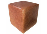 Cube Seating in Luxury Aged Rust Leather - Footstools Direct
