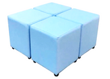 Cube Seating Baby Blue Collection - Footstools Direct