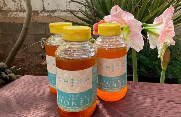 Honey Four Corners (16 oz plastic Jar)