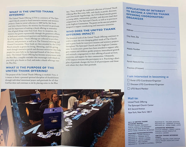 United Thank Offering Coordinator/Organizer Brochure