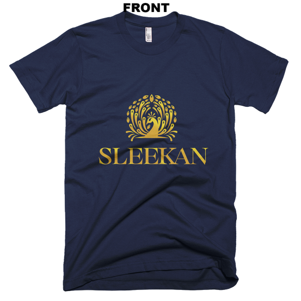 "Navy Luxury ""Morre"" T-Shirt - Sleekan"