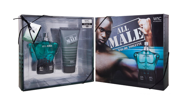 ALL MALE GREEN GIFT SET