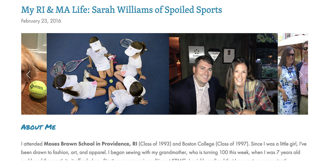 Spoiled Sports Featured On Patty J, A Lifestyle Blog