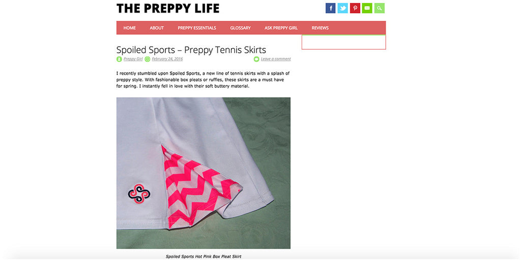 Spoiled Sports Featured In The Preppy Life