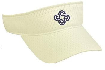 Youth Logo Visor (White)