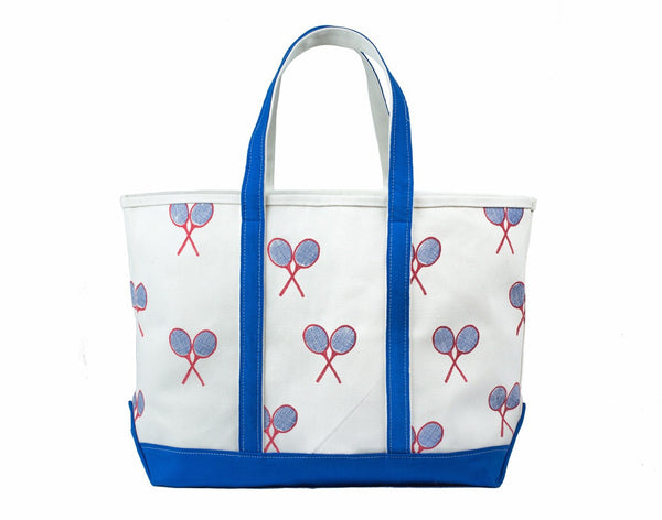 Tennis Tote Bag - Royal Blue / Red