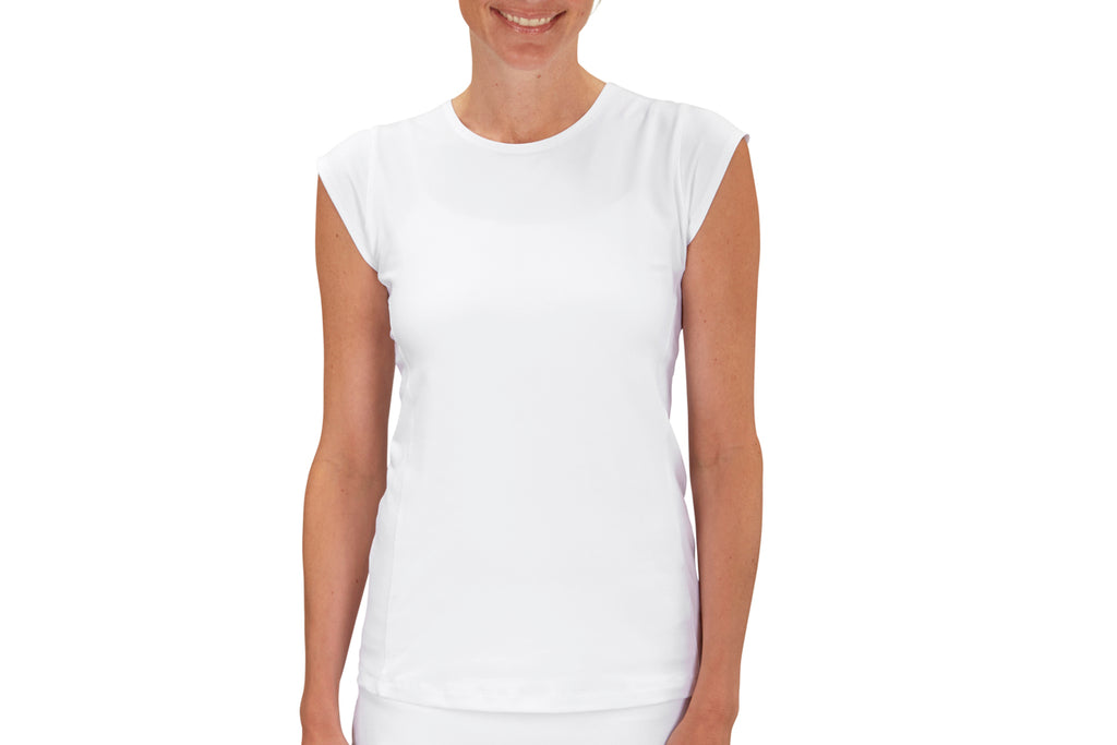 Womens Performance Top (White)