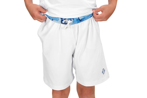 "Boys ""Advantage"" Tennis Shorts (White)"