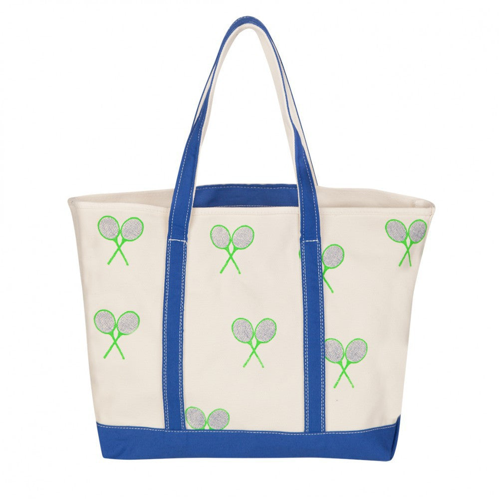Tennis Tote Bag - Royal Blue / Kelly Green