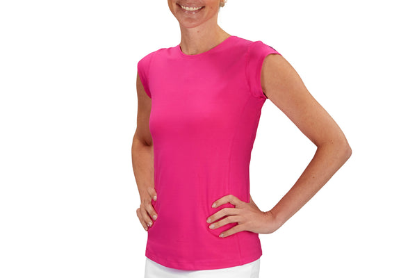 Womens Performance Top (Fuchsia)