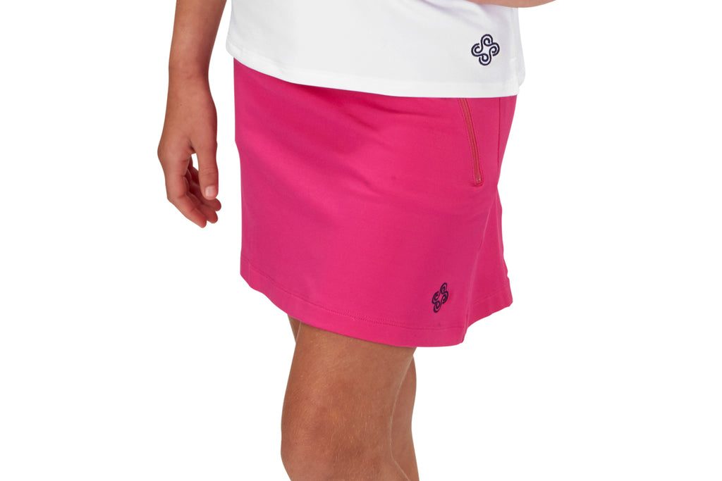 "Girls ""Fairway"" Golf Skirt (Fuchsia)"