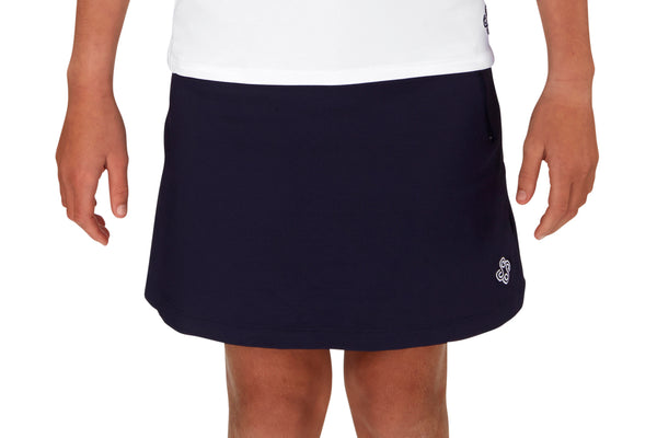 "Girls ""Fairway"" Golf Skirt (Navy)"