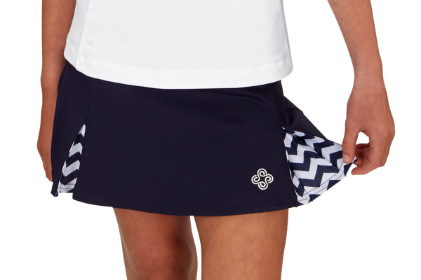 "Girls ""Deuce"" Tennis Skirt (Navy)"