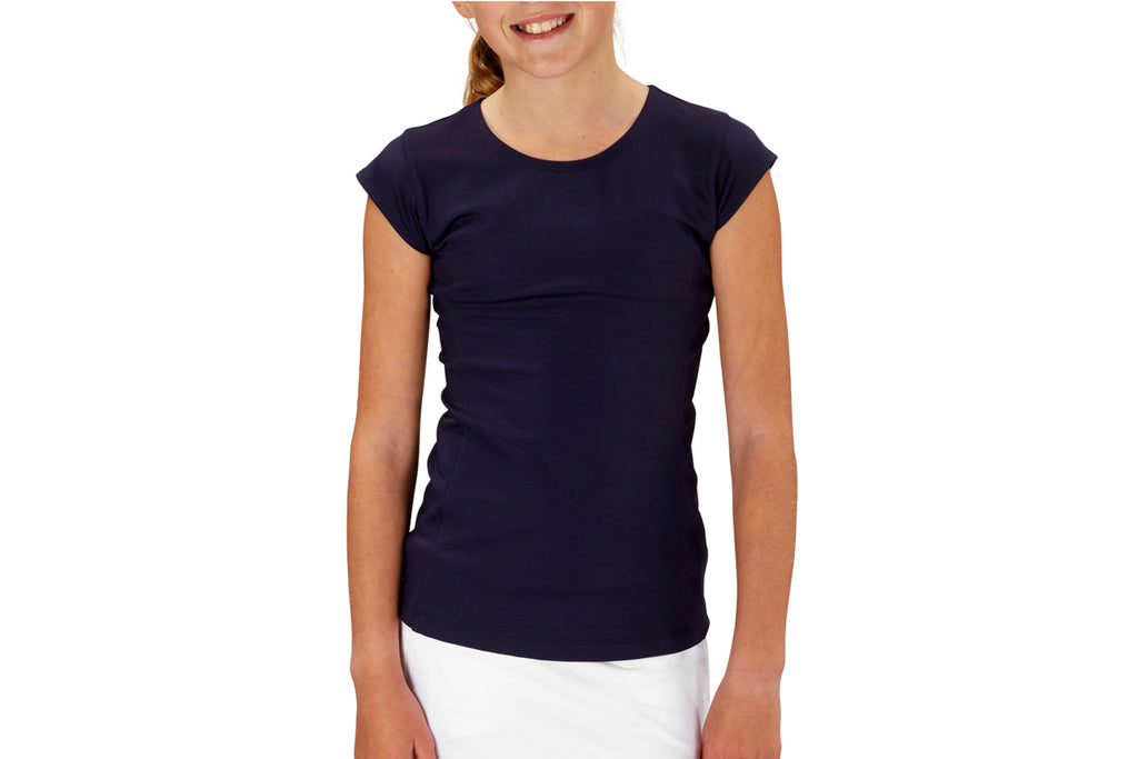 Girls Performance Top (Navy)