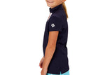 "Girls Collared ""Course"" Performance Top (Navy)"
