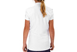 "Girls Collared ""Course"" Performance Top (White)"