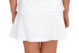 "Girls ""Deuce"" Tennis Skirt (White and Pink)"