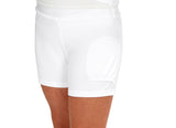 "Girls ""Deuce"" Tennis Skirt (White & Navy)"