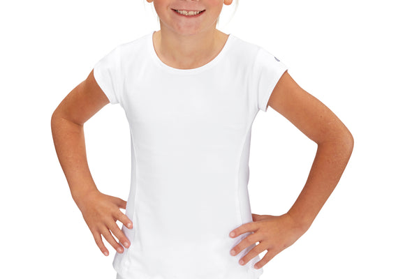 Girls Performance Top (White)