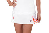 "Womens ""Deuce"" Tennis Skirt (White & Orange)"