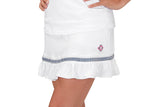 "Womens ""Rally"" Ruffle Skirt (Navy Ribbon)"