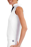 "Womens Sleeveless ""Court"" Performance Top (White)"