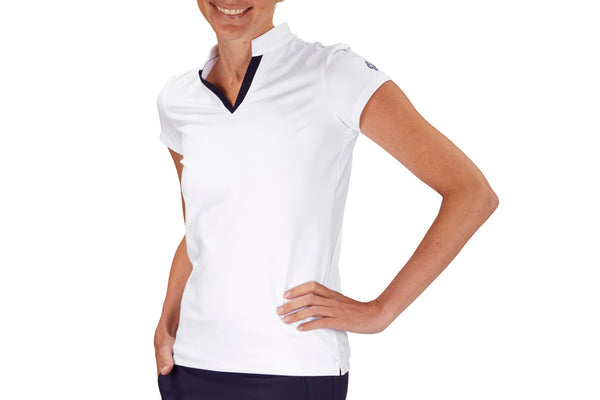 "Womens Collared ""Course"" Performance Top (White)"