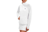 Womens 1/4 Zip Performance Top (White)