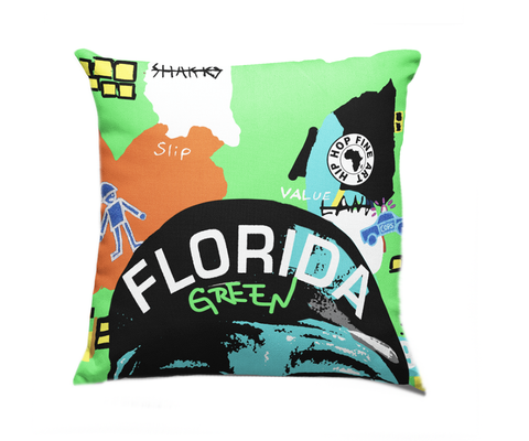 Florida Boro Collect Fly Throw Pillow