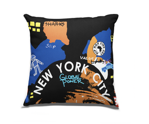 New York City  Boro Collect Fly Throw Pillow