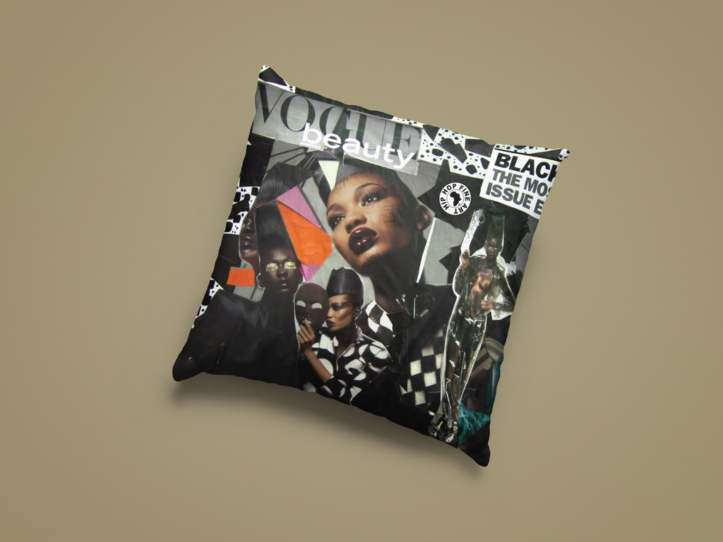 Black Vogue, Designer Pillow