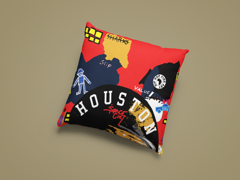 Houston B. Fly Throw Pillow