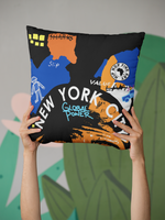 NYC B. Fly Throw Pillow