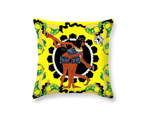 Kemetic Angles by Hip Hop Fine Art, Designer Throw Pillow