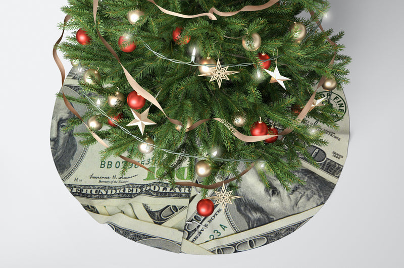 """Money Green"" Holiday Tree skirts"