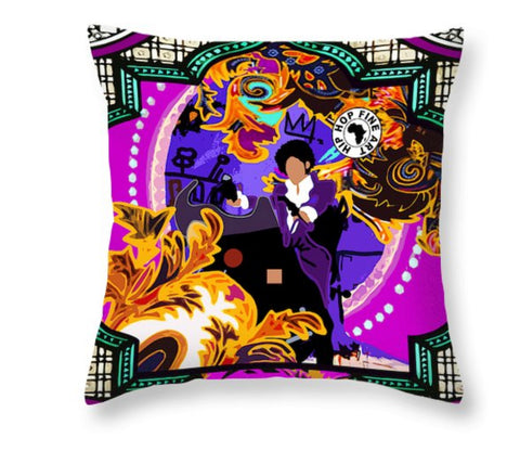 Violet Obsession by Hip Hop Fine Art, Designer Throw Pillow