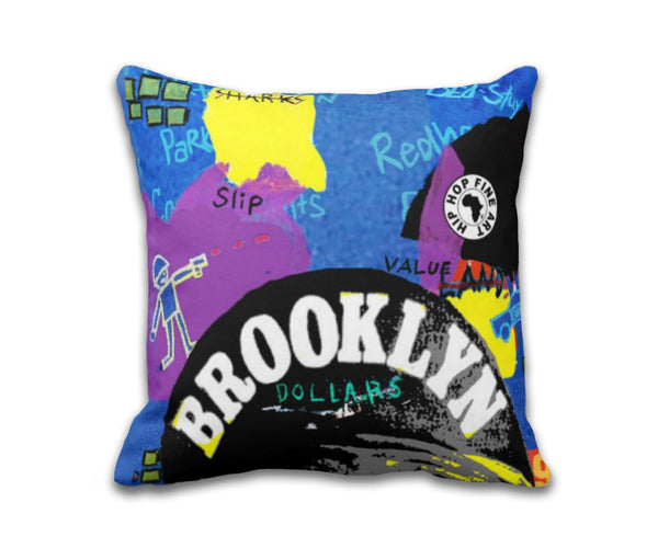 Brooklyn Dollars Fly Throw Pillow
