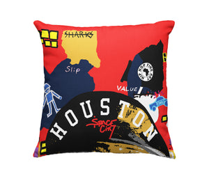 Houston Boro Collect Fly Throw Pillow