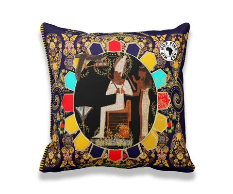 Navy God by Hip Hop Fine Art, Designer Throw Pillow