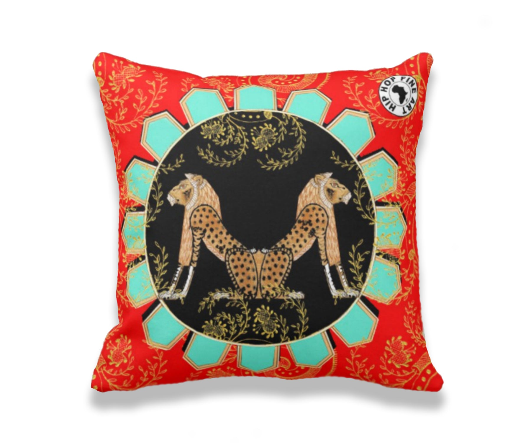 Strength and Wisdom by Hip Hop Fine Art, Designer Throw Pillow