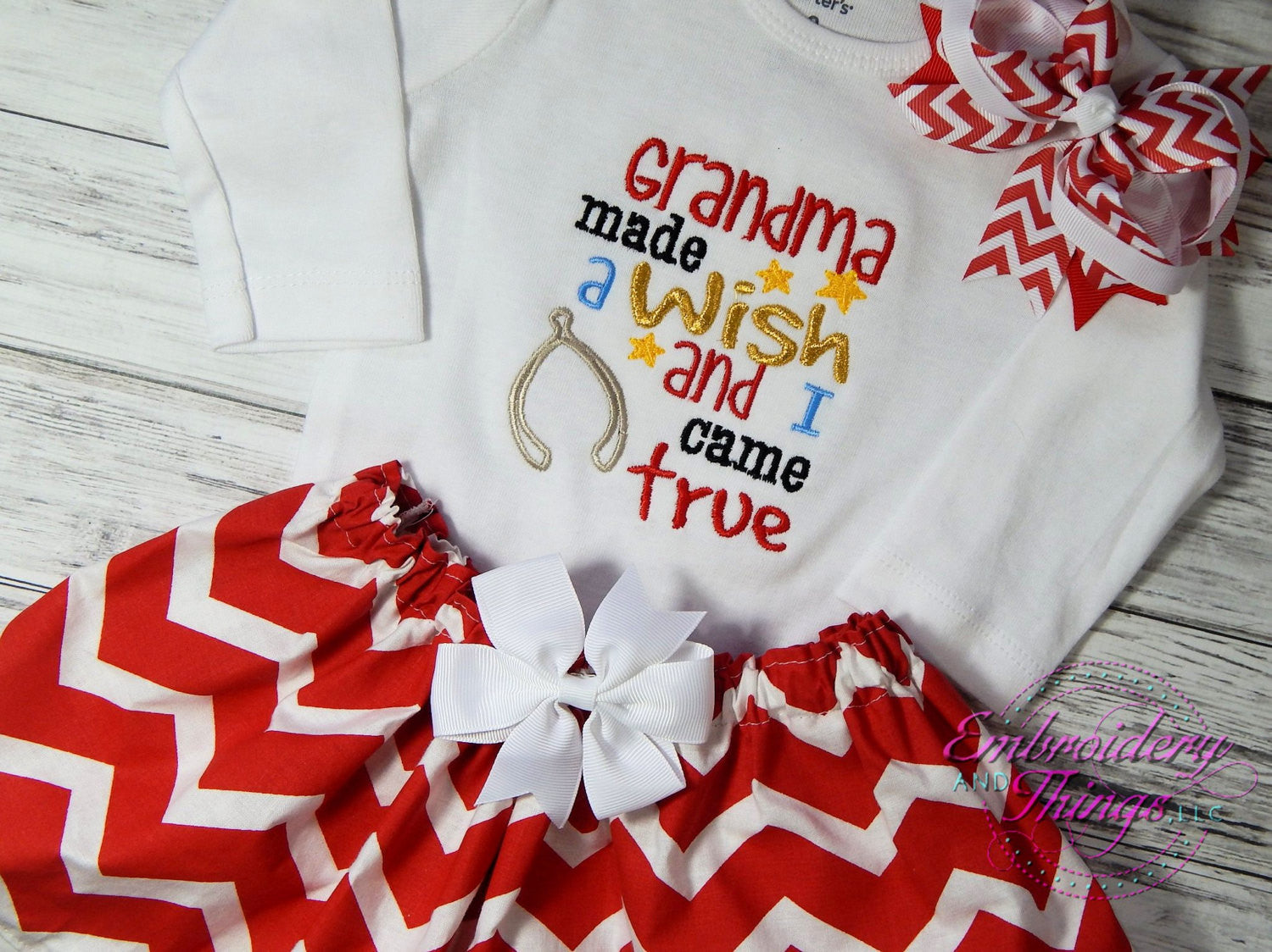 baby girls' clothing, grandma made a wish and i came true, baby, Baby shower
