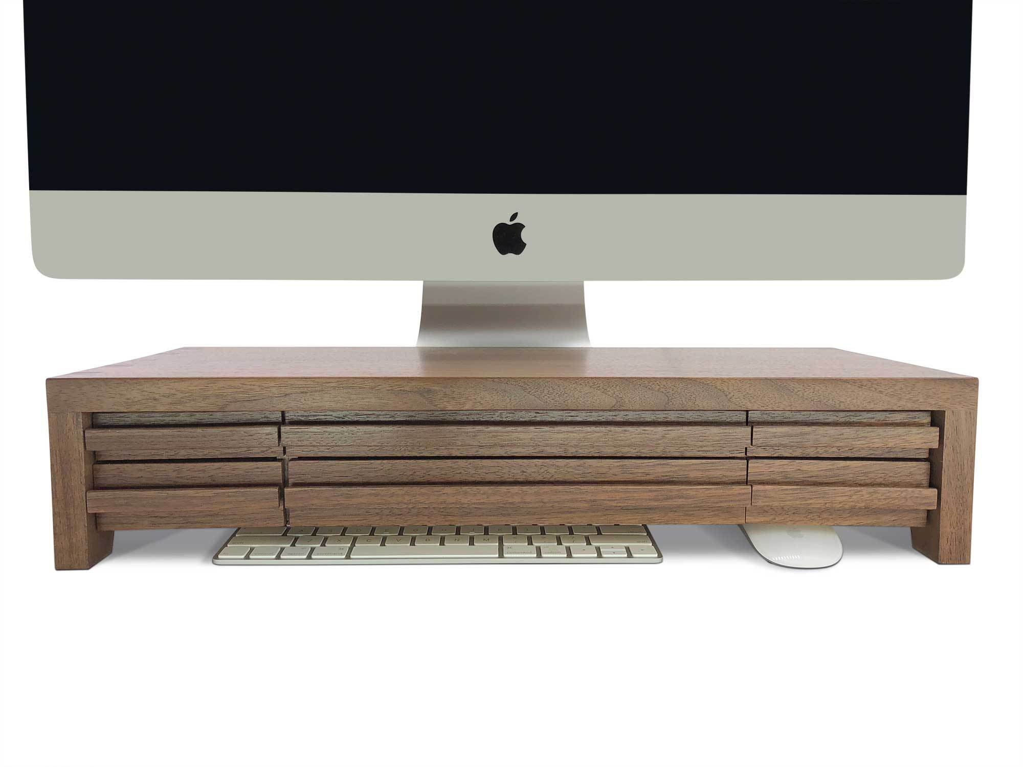 PLANET 6 Walnut –Urban Wood Desktop Computer Stand