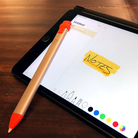 iPad mini with Logitech Crayon