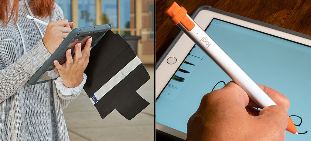 Apple Pencil with Stylus Sling-Logitech Crayon