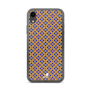 Royal Diamond Jeweled Glass Pattern iPhone Case