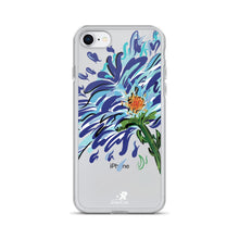 Load image into Gallery viewer, Blue Floral Illustration iPhone Case - Hand Drawn Abstract WaterFlower Design