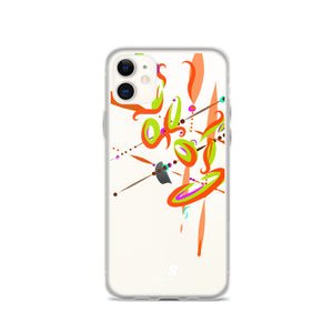 Spark Orange Contemporary iPhone Case